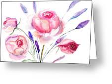 Beautiful Roses Flowers Greeting Card