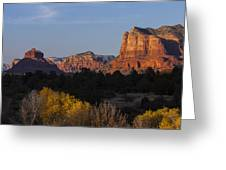 Bell Rock And Courthouse Butte Greeting Card