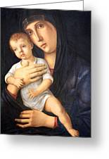 Bellini's Madonna And Child Greeting Card