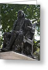 Benjamin Franklin Statue University Of Pennsylvania Greeting Card