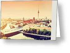 Berlin Germany View On Major Landmarks Greeting Card