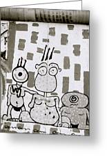 Berlin Wall Avatars Greeting Card
