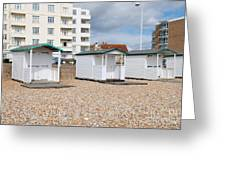 Bexhill Beach Huts Greeting Card