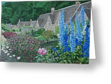 Bibury Gardens Greeting Card