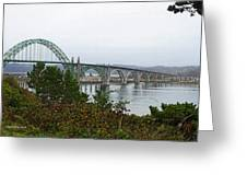 Big River Bridge Oregon Coast Greeting Card