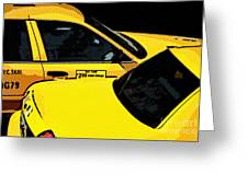 Big Yellow Taxis Greeting Card