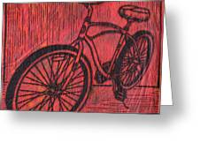 Bike 6 Greeting Card by William Cauthern