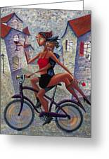 Bike Life Greeting Card by Ned Shuchter