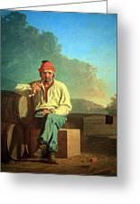 Bingham's Mississippi Boatman Greeting Card