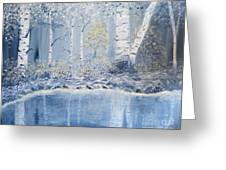 Birch Reflections Greeting Card
