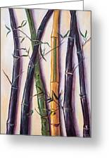 Black Bamboo Greeting Card