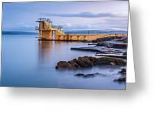Blackrock Diving Platform Galway Ireland Greeting Card