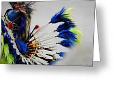 Blue Headdress Greeting Card