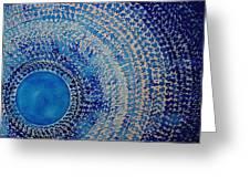 Blue Kachina Original Painting Greeting Card by Sol Luckman
