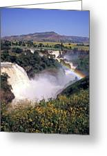Blue Nile Falls Greeting Card