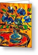 Blue Roses Greeting Card