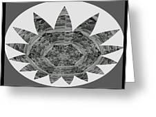 Bnw Black N White Star Ufo Art  Sprinkled Crystal Stone Graphic Decorations Navinjoshi  Rights Manag Greeting Card