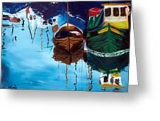 2 Boats Greeting Card