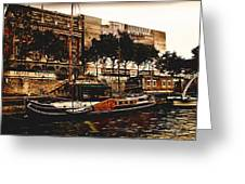 Boats On The Seine Greeting Card