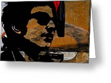 Bob Dylan Recording Session Greeting Card