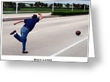 Boca Lanes Greeting Card by Lorenzo Laiken