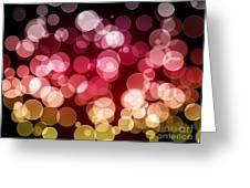 Bokeh Background Greeting Card