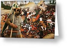 Border Terrier Art Canvas Print  Greeting Card