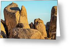 Boulders In A Desert, Joshua Tree Greeting Card