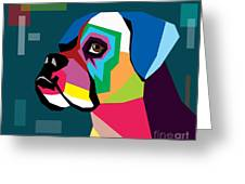 Boxer  Greeting Card by Mark Ashkenazi