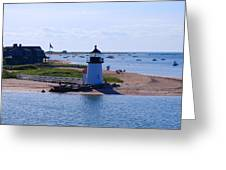 Brant Point Greeting Card by Lorena Mahoney