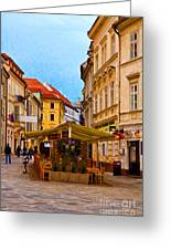 Bratislava Old Town Greeting Card