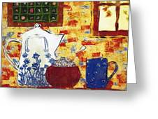 Breakfast With Pearl Jam Greeting Card