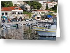 Brela Harbour Croatia Greeting Card