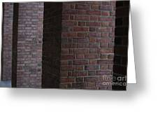 Brick Columns Greeting Card