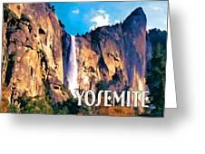 Bridal Veil Falls Yosemite National Park Greeting Card