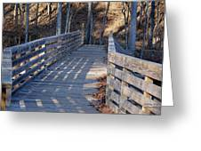 Bridge To The Forest Greeting Card