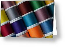 Bright Colored Spools Of Thread Greeting Card