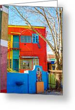 Bright Colors In Buenos Aires Greeting Card