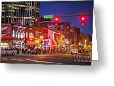 Broadway Street Nashville Greeting Card