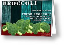 Broccoli Farm Greeting Card