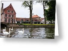 Brugge Canal Scene Greeting Card