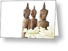 Buddha Figurine  Greeting Card