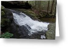 Buffam Falls Lower Cascade Greeting Card