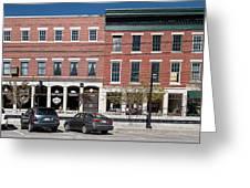 Buildings Along A Street, Thomaston Greeting Card