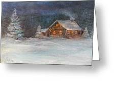 Cabin In The Woods Greeting Card