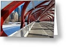 Calgary Peace Bridge Greeting Card