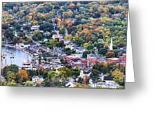 Camden Maine Harbor Greeting Card