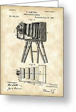 Camera Patent 1885 - Vintage Greeting Card