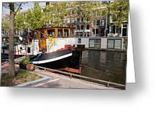 Canal In The City Of Amsterdam Greeting Card