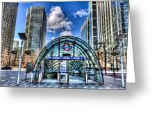 Canary Wharf Station Greeting Card